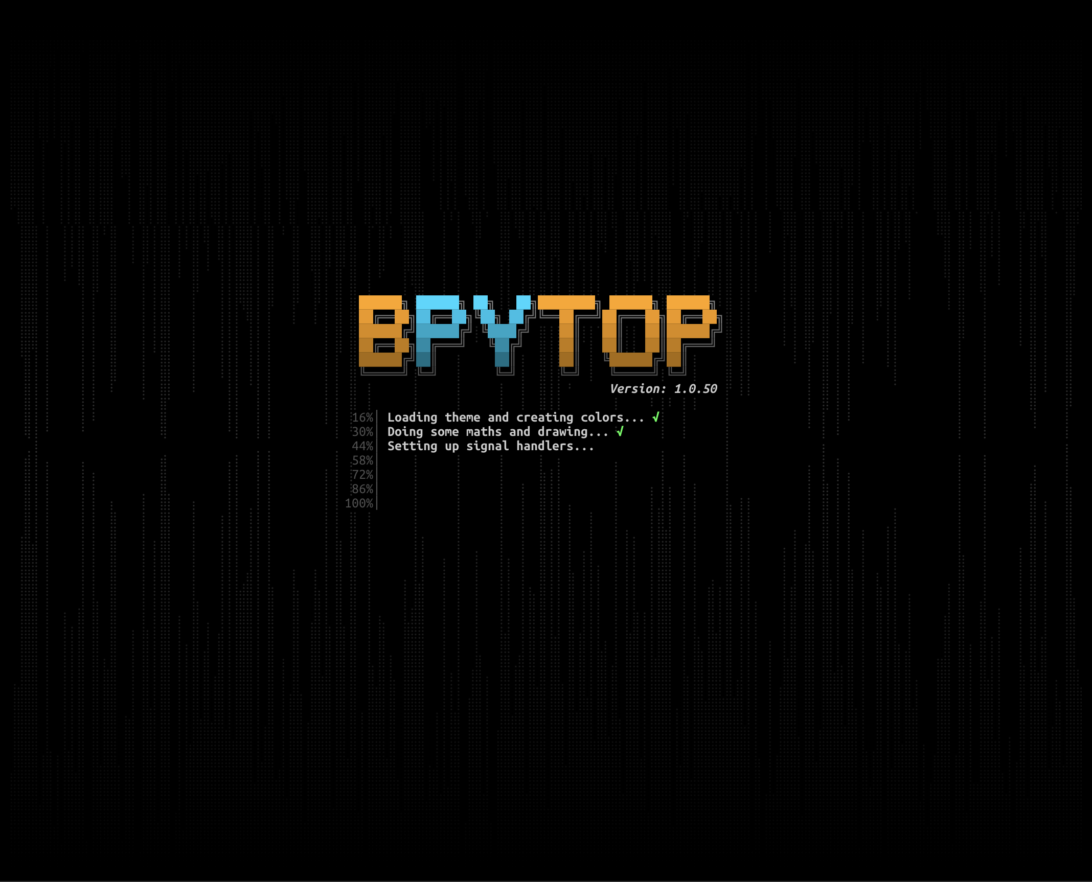 Splashscreen bpytop